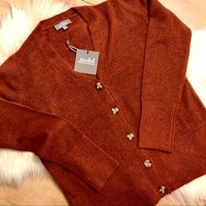 Marled Cardigan Auburn Sweater size large